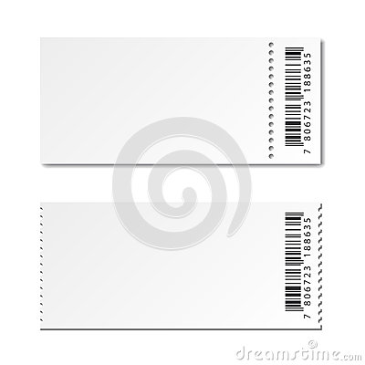 Free Blank White Paper Ticket Stock Photography - 85159442