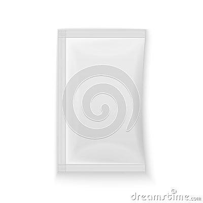 Free Blank White Plastic Sachet Royalty Free Stock Photo - 46484505