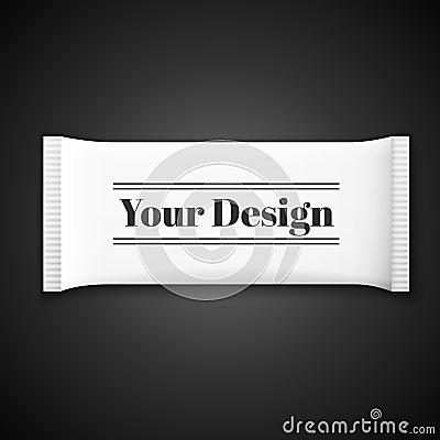 Free Blank White Plastic Sachet For Medicine, Condoms Royalty Free Stock Photography - 50664097