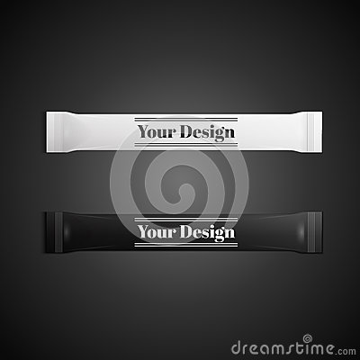 Free Blank White Plastic Sachet For Medicine, Condoms Stock Photos - 50664213