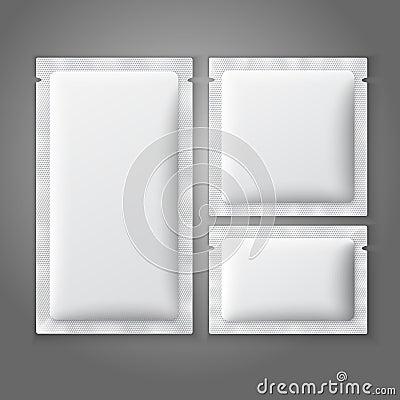 Free Blank White Plastic Sachets For Coffee, Sugar, Stock Photo - 47016520