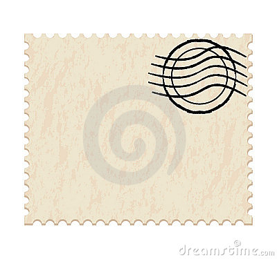 Blank white post stamp