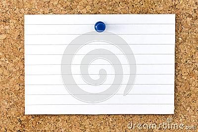 Blank White Striped Sheet Cork Board Pushpin