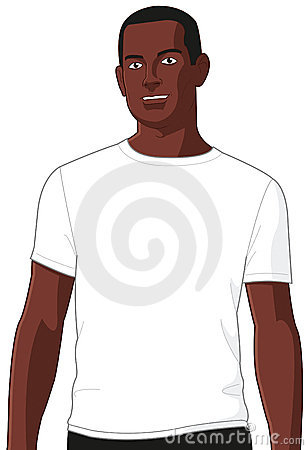 Blank White T-shirt Model Man 2