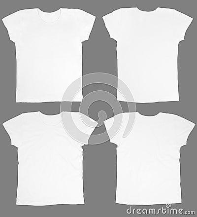 Blank white t-shirts
