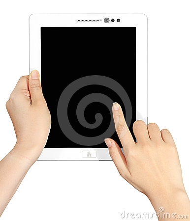 Blank white  touch pad tablet