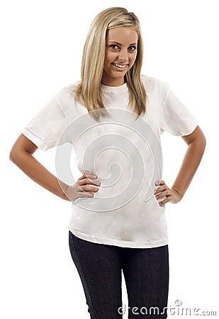 Blank white Tshirt