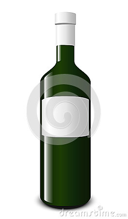 Blank white wine bottle