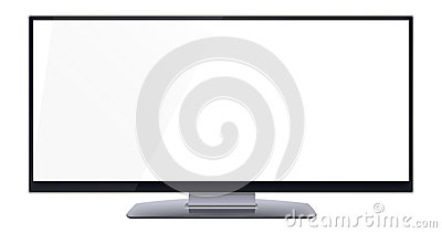 Blank wide computer screen for copy space