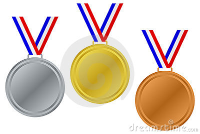 Blank Winner Medals Set