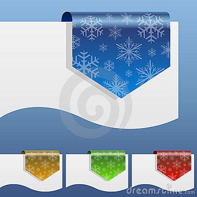 Blank winter discount labels