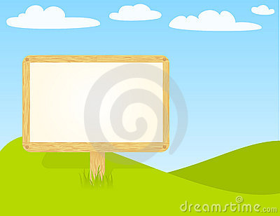 Blank wooden billboard