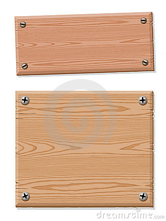 Blank wooden sign collection