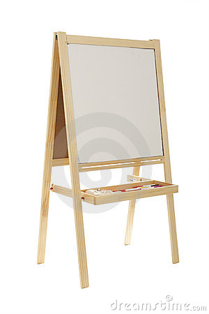 Blank wooden whiteboard