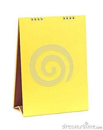 Blank yellow calendar