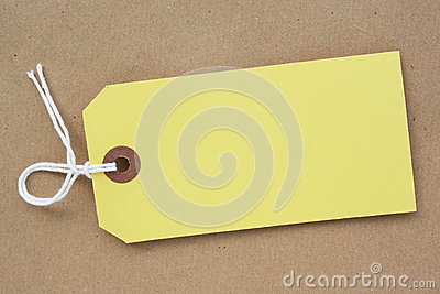 Yellow Paper Luggage Tag