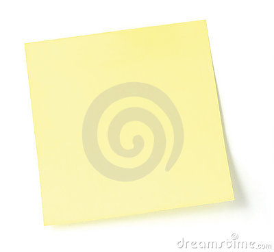Blank Yellow Post-It List