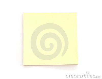 Blank Yellow Post-it Note