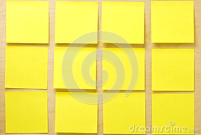 Blank Yellow Post-it Postit Collection