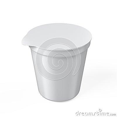 Empty Yogurt Container