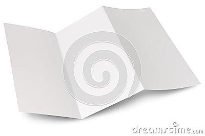 Blank zigzag folded flyer