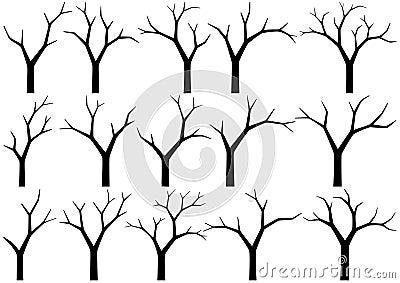 Blanke Bäume