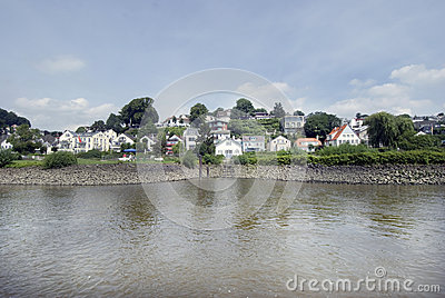 Blankenese and the River Elbe, Hamburg, Germany 01
