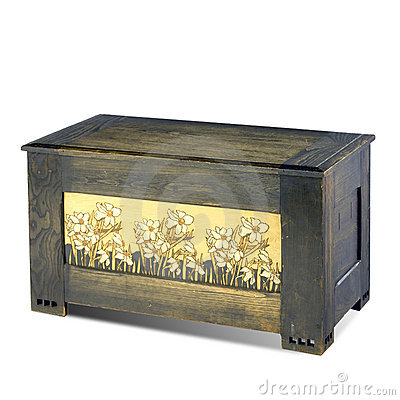 Blanket chest with floral design Editorial Image
