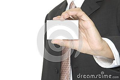 Blankt affärskort