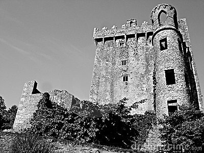 Blarney Castle Black and White
