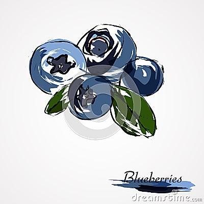 blaubeeren heidelbeeren vektor abbildung bild 42415645. Black Bedroom Furniture Sets. Home Design Ideas