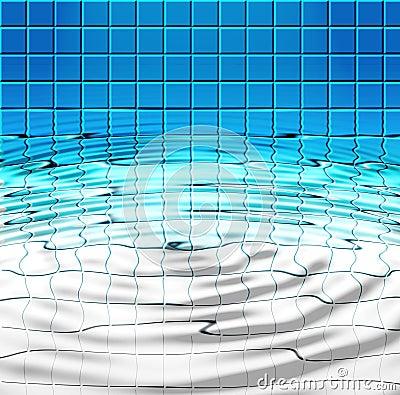 blaue fliesen und wasser im pool lizenzfreies stockfoto. Black Bedroom Furniture Sets. Home Design Ideas