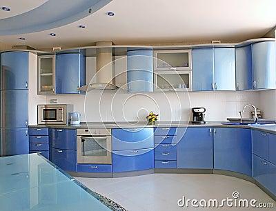 blaue k che stockbild bild 10199921. Black Bedroom Furniture Sets. Home Design Ideas
