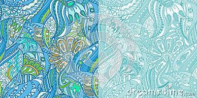 blaue muster mit eulen im wald vektor abbildung bild 67911824. Black Bedroom Furniture Sets. Home Design Ideas