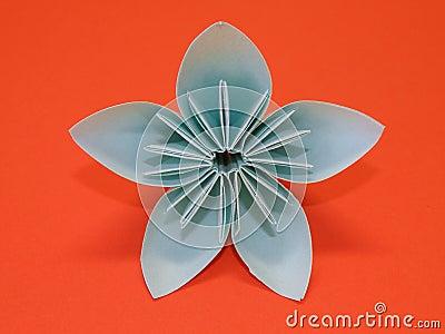 blaue origami blume stockbild bild 14295751. Black Bedroom Furniture Sets. Home Design Ideas