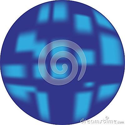 Blauer Knopf (Netzknopf, der 3d schaut)