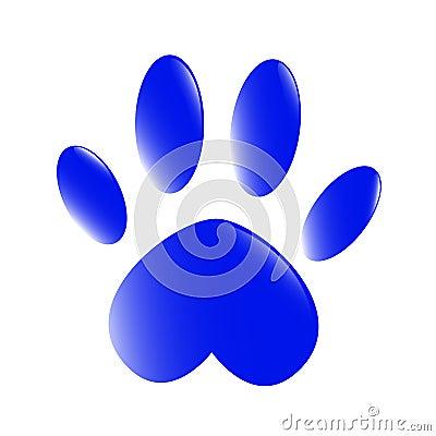 blaue tatze lizenzfreie stockfotografie bild 29438177