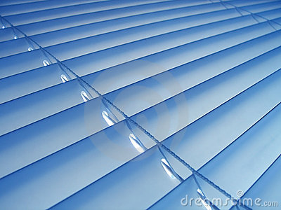 Blaue Vorhänge