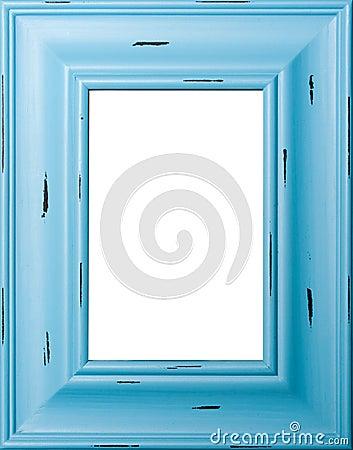 Blauer Bilderrahmen
