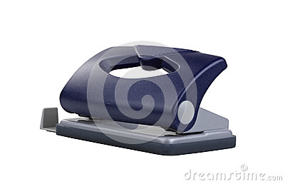 Blauer Büropapier-Loch Puncher