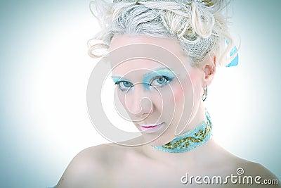 Blauer flüchtiger Blick