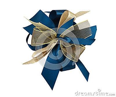 Blauer und goldener Knotenpunkt