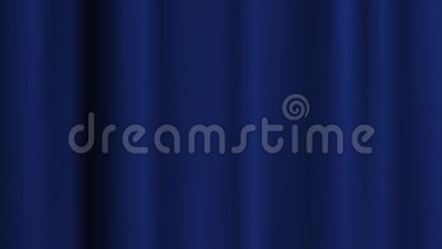 Blauer Vorhanghintergrund in der Bewegung im Vordergrund Gemacht in den Nachwirkungen stock video