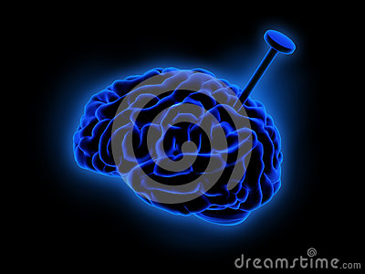 Blaues Gehirn