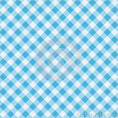 Blaues Ginghamgewebe, nahtloses Muster eingeschlossen