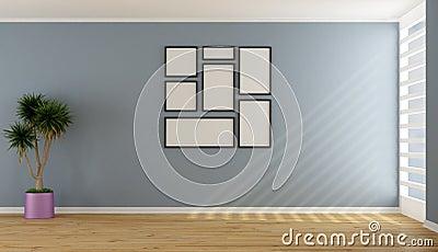Blaues leeres unbedeutendes wohnzimmer stockfotografie bild 31186632 - Blaues wohnzimmer ...