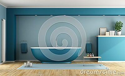 modernes blaues badezimmer stockfoto - bild: 49847172, Hause ideen