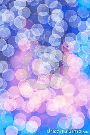 Blaues Weihnachtsbäume bokeh