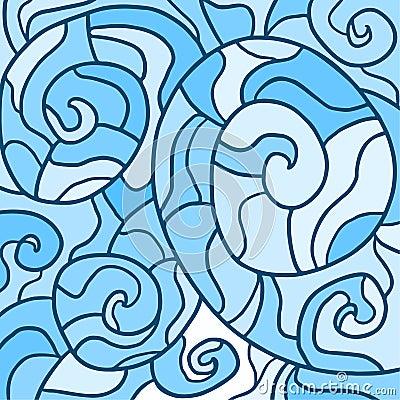 Blauw behang vector illustratie afbeelding 50231941 - Behang grafisch ontwerp ...