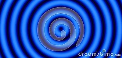 Blauw en zwart doel